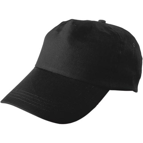 Cap, cotton twill in black