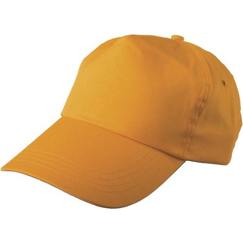 Cap, cotton twill in orange