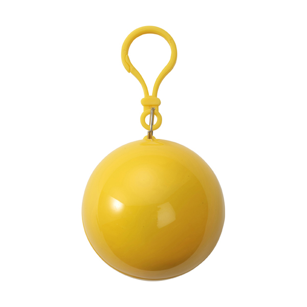PVC poncho in a plastic ball in yellow