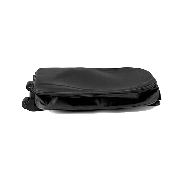 Foldable travel trolley in black
