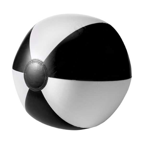 Beach ball, 35cms deflated in black