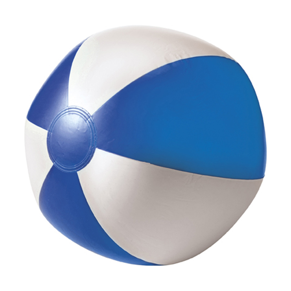 Beach ball, 35cms deflated in blue