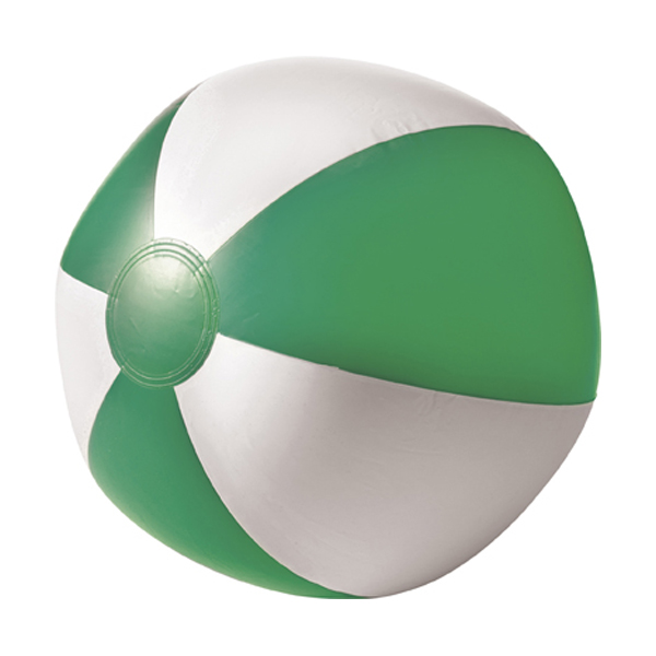 Beach ball, 35cms deflated in green