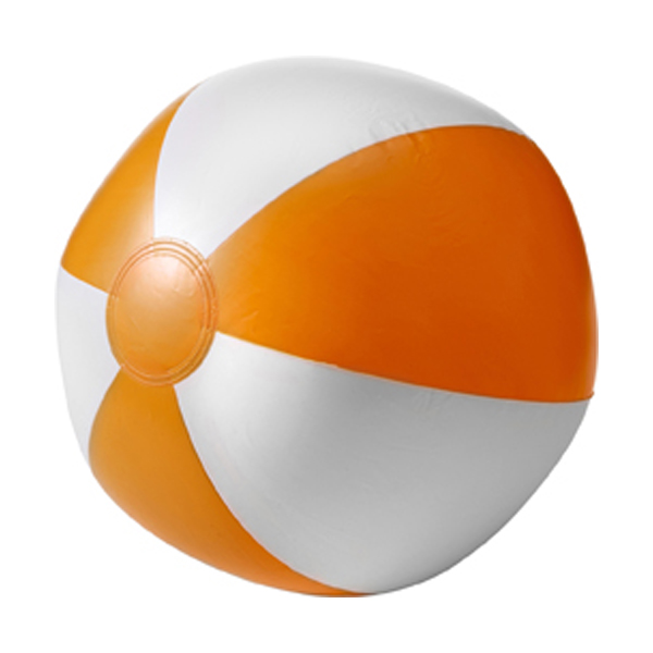 Beach ball, 35cms deflated in orange