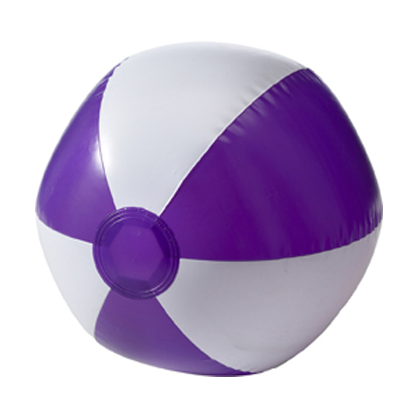 Beach ball, 35cms deflated in purple