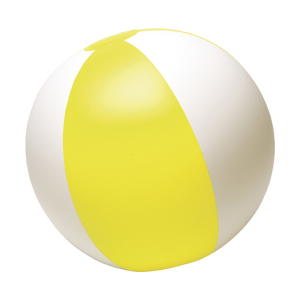 Beach ball, 35cms deflated in yellow
