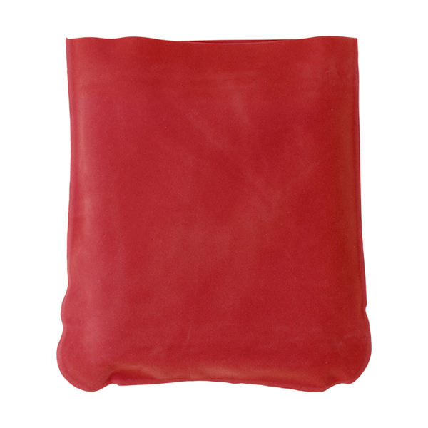 Inflatable travel cushion in red