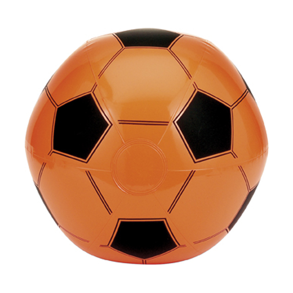 Inflatable football in orange