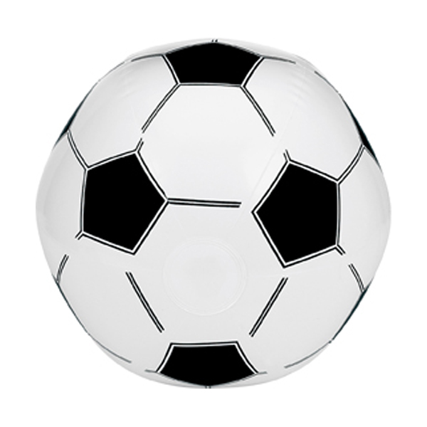 Inflatable football in white