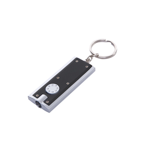 Portland Keyring Torch in black-back