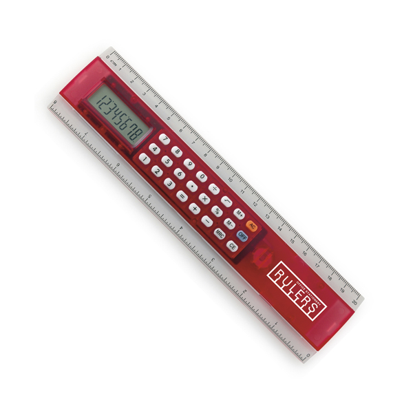 Ruler Calc Calculators in red