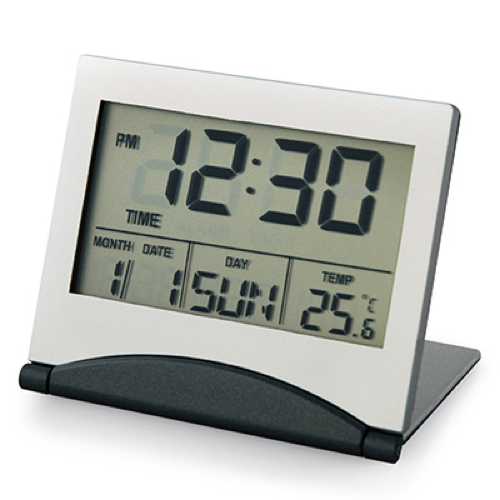 Dart Travel Clock in silver