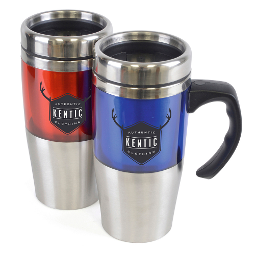 Rembrandt 450Ml Tall Double Walled Travel Mug in red
