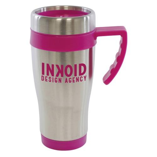 Oregan Travel Mugs in pink