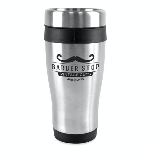 Ancoats 450Ml Double Walled Stainless Steel Tumbler in black