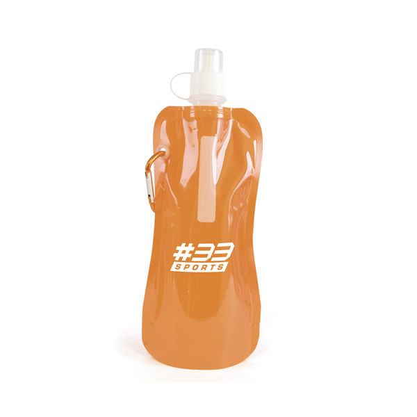 Fold up bottle in orange