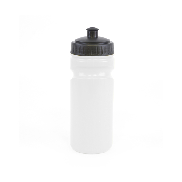 Lioness 500Ml Plastic Sports Bottle in white
