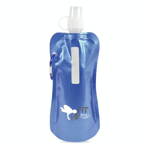 Metallic fold up bottle in blue