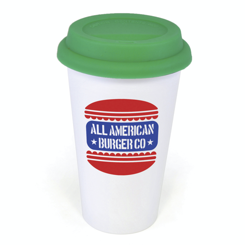 Plastic Take Out Mug in green