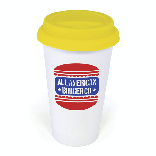 Plastic Take Out Mug in yellow