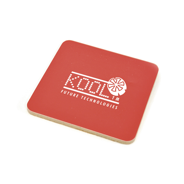 Square Cork Coloured Coaster in red