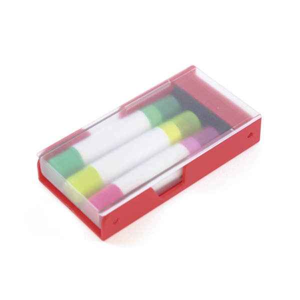 Wax Crayon 3Pc Highlighter Crayon Set in red