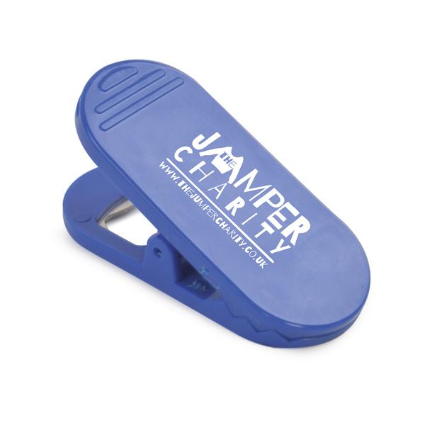 Jackson Plastic Memo Clip Bottle Opener in blue
