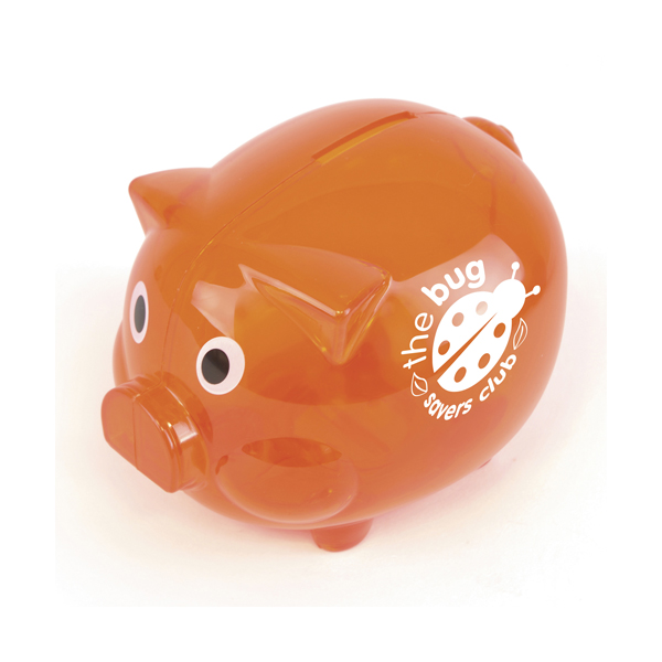 Piggy Money Boxes in orange