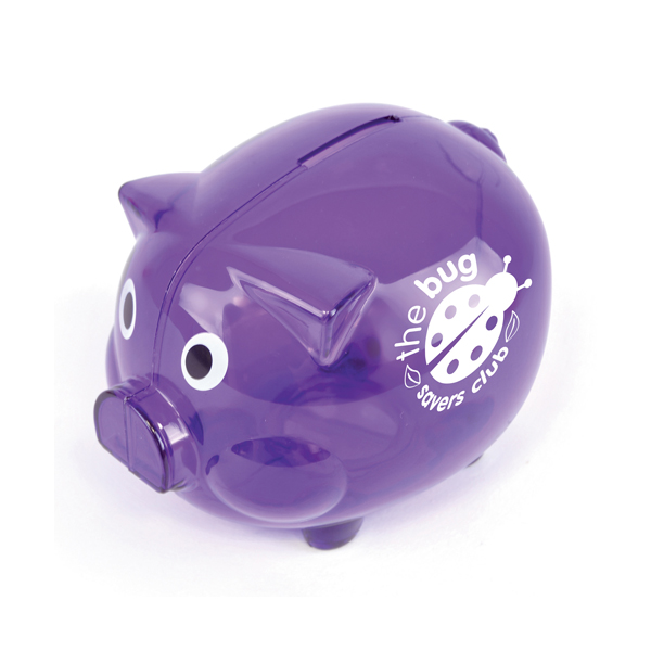 Piggy Money Boxes in purple