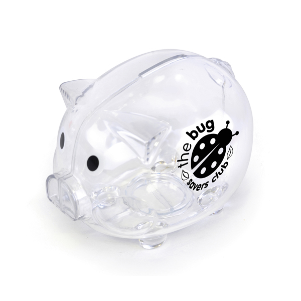 Piggy Money Boxes in transparent