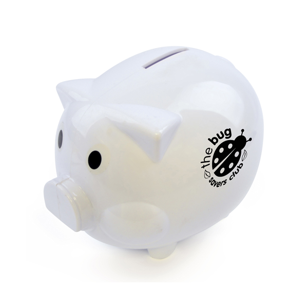Piggy Money Boxes in white