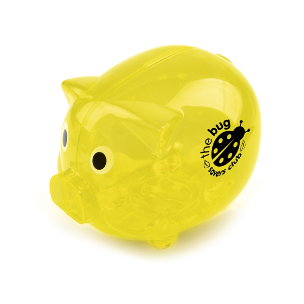 Piggy Money Boxes in yellow