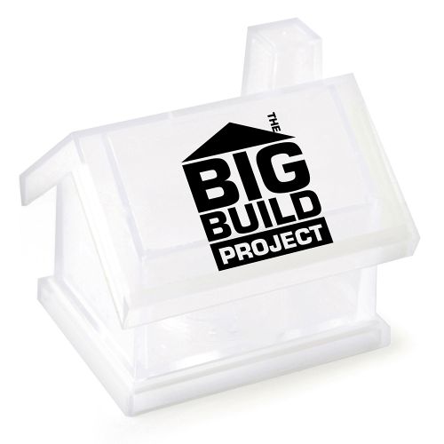 House Shaped Money Box in transparent