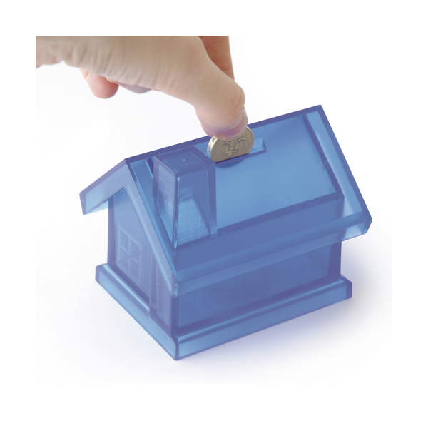 House Shaped Money Box in blue