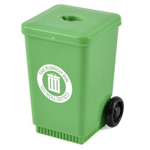 Fugato Wheelie Bin Shaped Pencil Sharpener in green