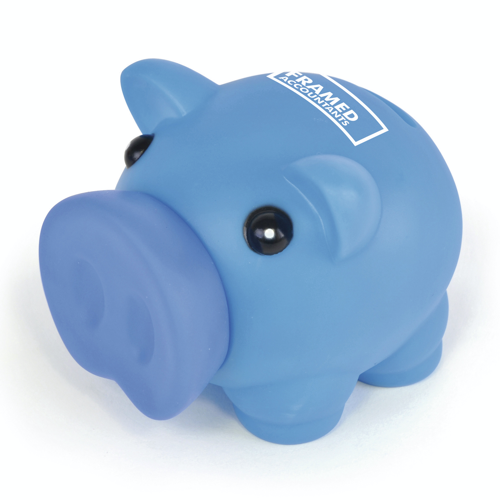 Rubber Nose Piggy in blue