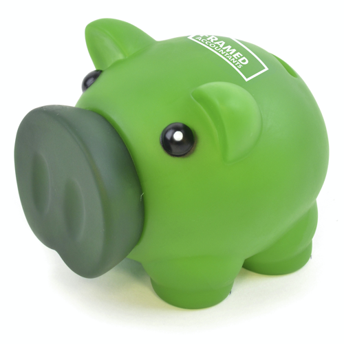 Rubber Nose Piggy in green