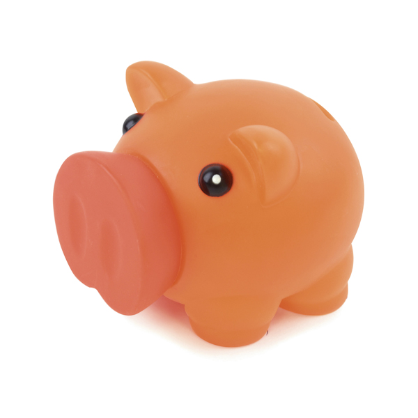 Rubber Nose Piggy in orange