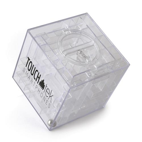 Maze Plastic Cube Shaped Money Box