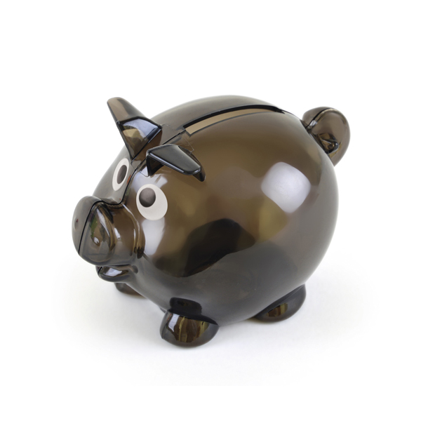 Piglet Bank in black