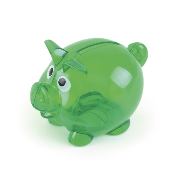 Piglet Bank in green