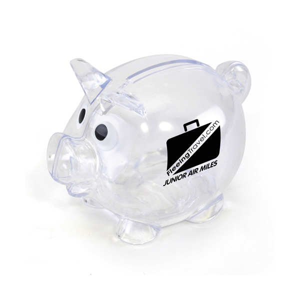 Piglet Bank in transparent
