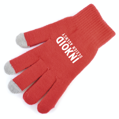 Smart Phone Gloves in red