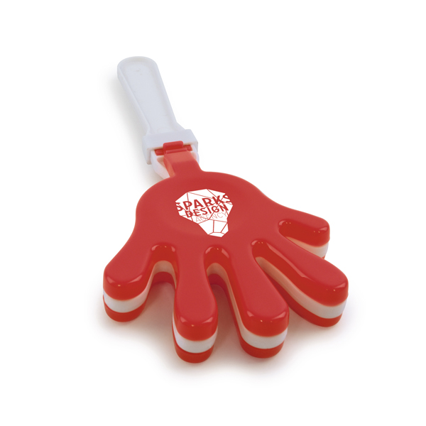 Large Hand Clapper in red