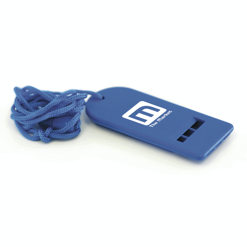 Flat Whistle in blue