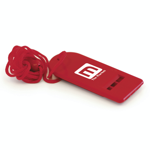 Flat Whistle in red