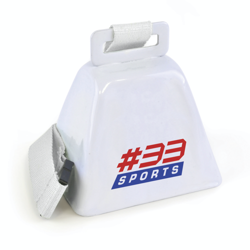 Cow Bell in white