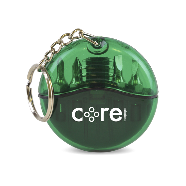 Cutler Keyring Screwdriver Set in green