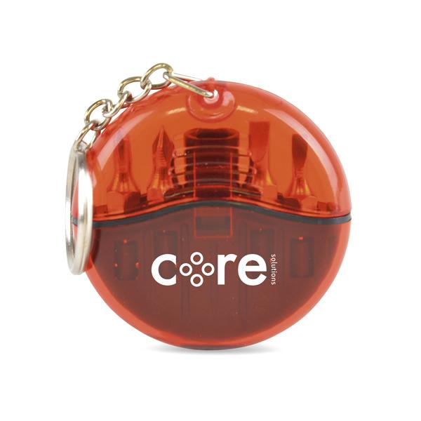 Cutler Keyring Screwdriver Set in red