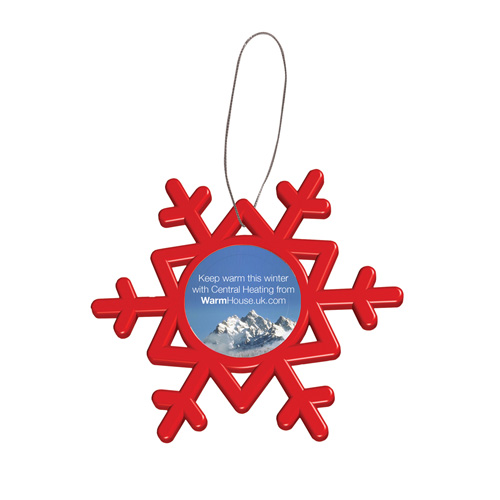 Snowflake in red